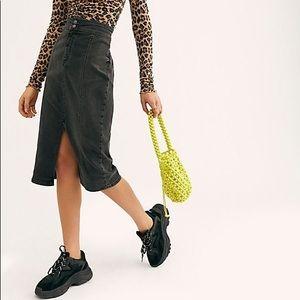 Free People 'Maddie' Denim Midi Skirt Sz:29